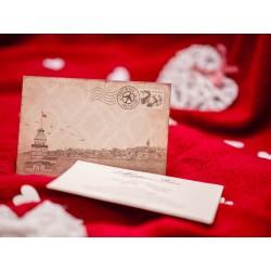 Invitatie de nunta vintage 5513