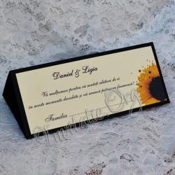 Plic de bani elegant cu Floarea Soarelui