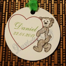 Eticheta Ursulet cu inimioara