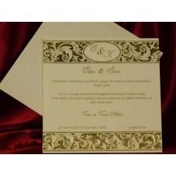Invitatie de nunta vintage cu pietricele 489