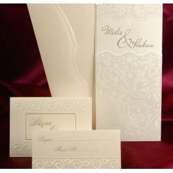 Invitatie de nunta eleganta cu model floral 3583