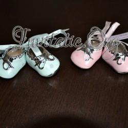 Botosei din ceramica mari roz si bleu