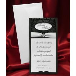 Invitatie de nunta cu fundita 3623