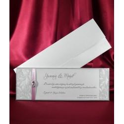Invitatie de nunta cu fundita si accesoriu 3638