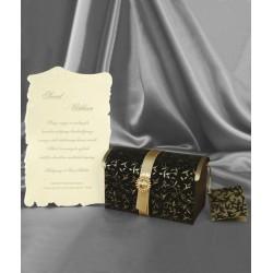 Invitatie de nunta cufar vintage 3651