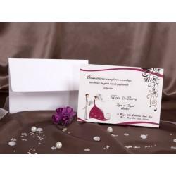 Invitatie de nunta clasica cu miri 30029