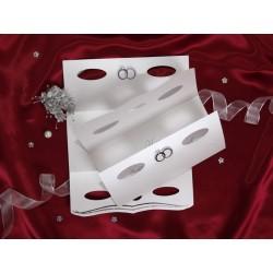 Invitatie de nunta eleganta cu inele de logodna 30073