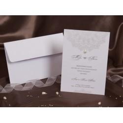 Invitatie de nunta cu model si perla 30081