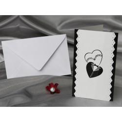Invitatie de nunta cu inimioare miri 60212