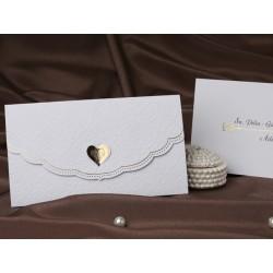 Invitatie de nunta cu model vintage si inimioara 60218