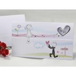 Invitatie de nunta haioasa cu miri 60224