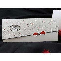 Invitatie de nunta cu buburuze si inimioare 60229