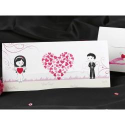 Invitatie de nunta haioasa cu inimioare 60232