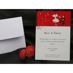 Invitatie de nunta eleganta cu miri 60238