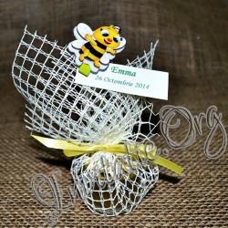 Marturie botez Borcanel cu miere albinuta