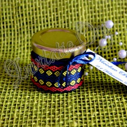 Marturie borcanel cu miere motiv traditional