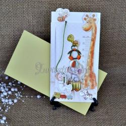 Invitatie de botez cu girafa 15204