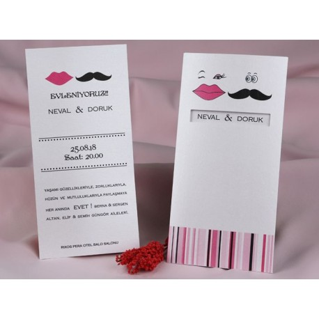 Invitatii Pentru Nunta Haioase Cu Buze Si Mustata 60313