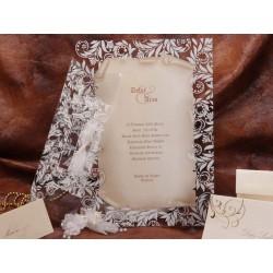 Invitatie de nunta vintage papirus 50455