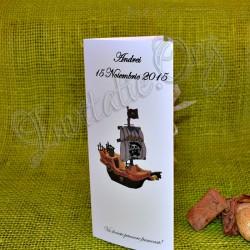Meniu de Botez cu Corabie de Pirati