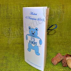 "Meniu de Botez Ursulet ""It's a boy"""