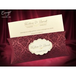 Invitatie de nunta cu catifea visinie 5504