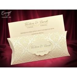 Invitatie de nunta eleganta cu catifea 5505