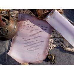 Invitatie de nunta papirus 1136