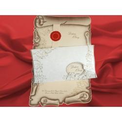 Invitatie de nunta tip papirus 1763