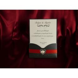 Invitatie de nunta eleganta cu inimioara 1784