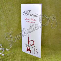 Meniu nunta elegant Turnul Eiffel - Paris - Love