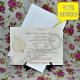 Invitatie handmade cu frunza si perla