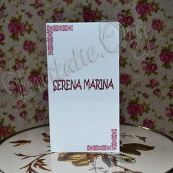 Invitatie Handmade cu model traditional