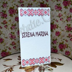 Invitatie Handmade cu model traditional 2