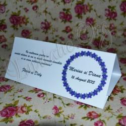 Plic de bani elegant cu model coronita din flori albastre