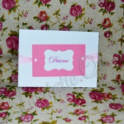 Invitatie Handmade eleganta alb-roz