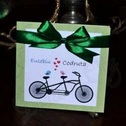 Invitatie Handmade cu Bicicleta