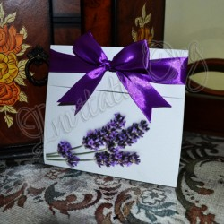 Invitatie Handmade cu Lavanda
