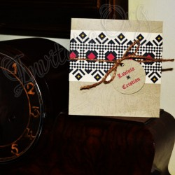 Invitatie Handmade cu model Traditional 3