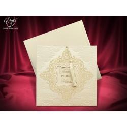 Invitatie de nunta cu model catifea 3672