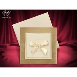Invitatie de nunta eleganta cu fundita 3676