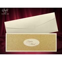 Invitatie de nunta eleganta cu sclipici auriu 3683