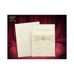 Invitatie de nunta vintage 3685