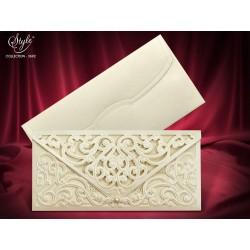 Invitatie de nunta cu dantela si perla 3692