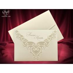 Invitatie de nunta eleganta cu perla 3698