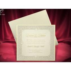 Invitatie de nunta vintage 3663