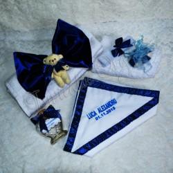 Trusou pentru Botez Personalizat Albastru