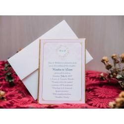 Invitatie de nunta vintage 50506