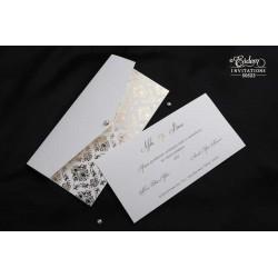 Invitatie de nunta eleganta cu model auriu 50523