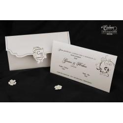 Invitatie de nunta cu model vintage 50536